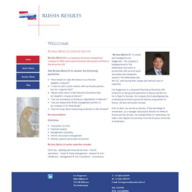 Website Russia Results - De Groen Design