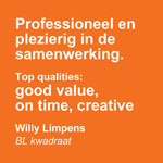 Good value on time creative - De Groen Design - Oranje blokken