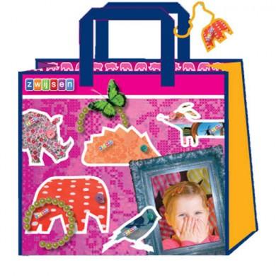 Verpakking tas animaatje roze - De Groen Design