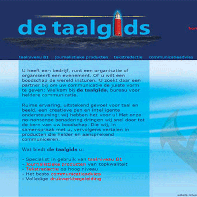 Website De Taalgids - De Groen Design